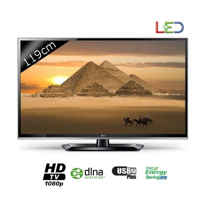 lg 47ls5600 tv hd 119 cm t l viseur led prix pas cher. Black Bedroom Furniture Sets. Home Design Ideas