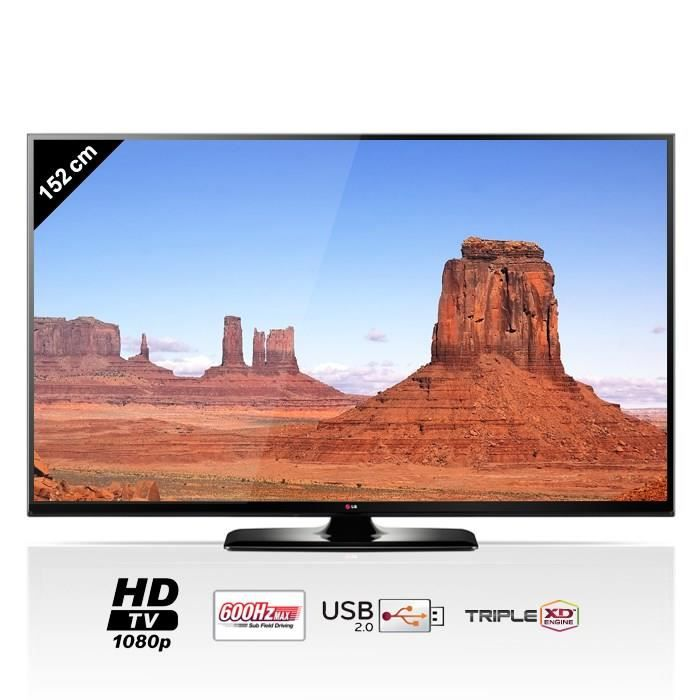lg 60pb5600 tv plasma full hd 600hz 152cm t l viseur plasma avis et prix pas cher soldes. Black Bedroom Furniture Sets. Home Design Ideas