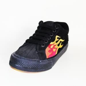 Shoes Vintage VISION STREET WEAR MC91 FLAME BLACK Nubuck