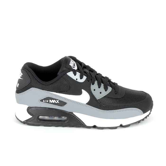 Basket mode - Sneakers NIKE Air Max 90 Essential Noir Gris AJ1285 ...