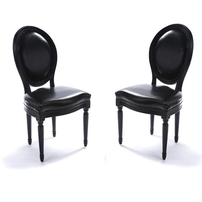 lot de 2 chaises design baroque m daillon achat vente chaise soldes d hiver d s le 11. Black Bedroom Furniture Sets. Home Design Ideas