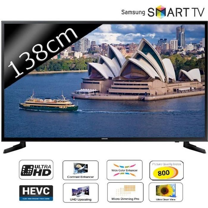 samsung ue55ju6000 smart tv uhd 4k 138cm 55 t l viseur led avis et prix pas cher soldes. Black Bedroom Furniture Sets. Home Design Ideas