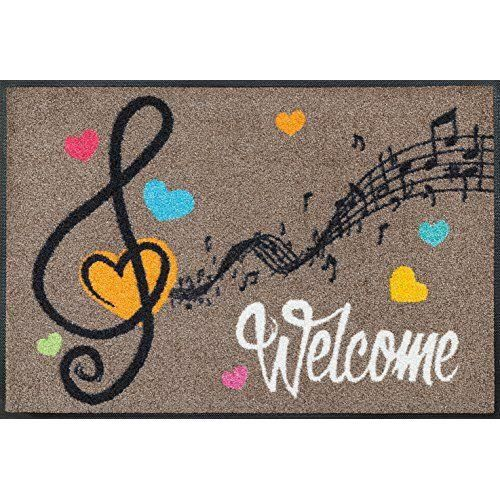 Wash dry 068600 welcome music tapis nylon caoutchouc for Tapis cuisine wash and dry