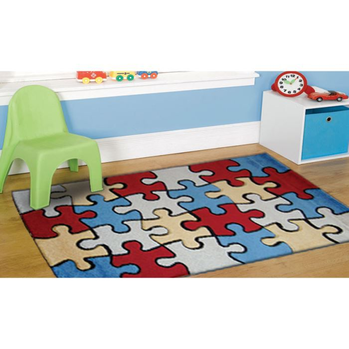 tapis chambre enfant puzzle joy l020 cm 160x230 achat. Black Bedroom Furniture Sets. Home Design Ideas