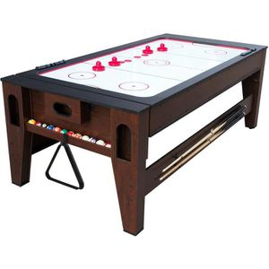 TABLE MULTI-JEUX COUGAR Table Multi-jeux Billard et air hockeyRever