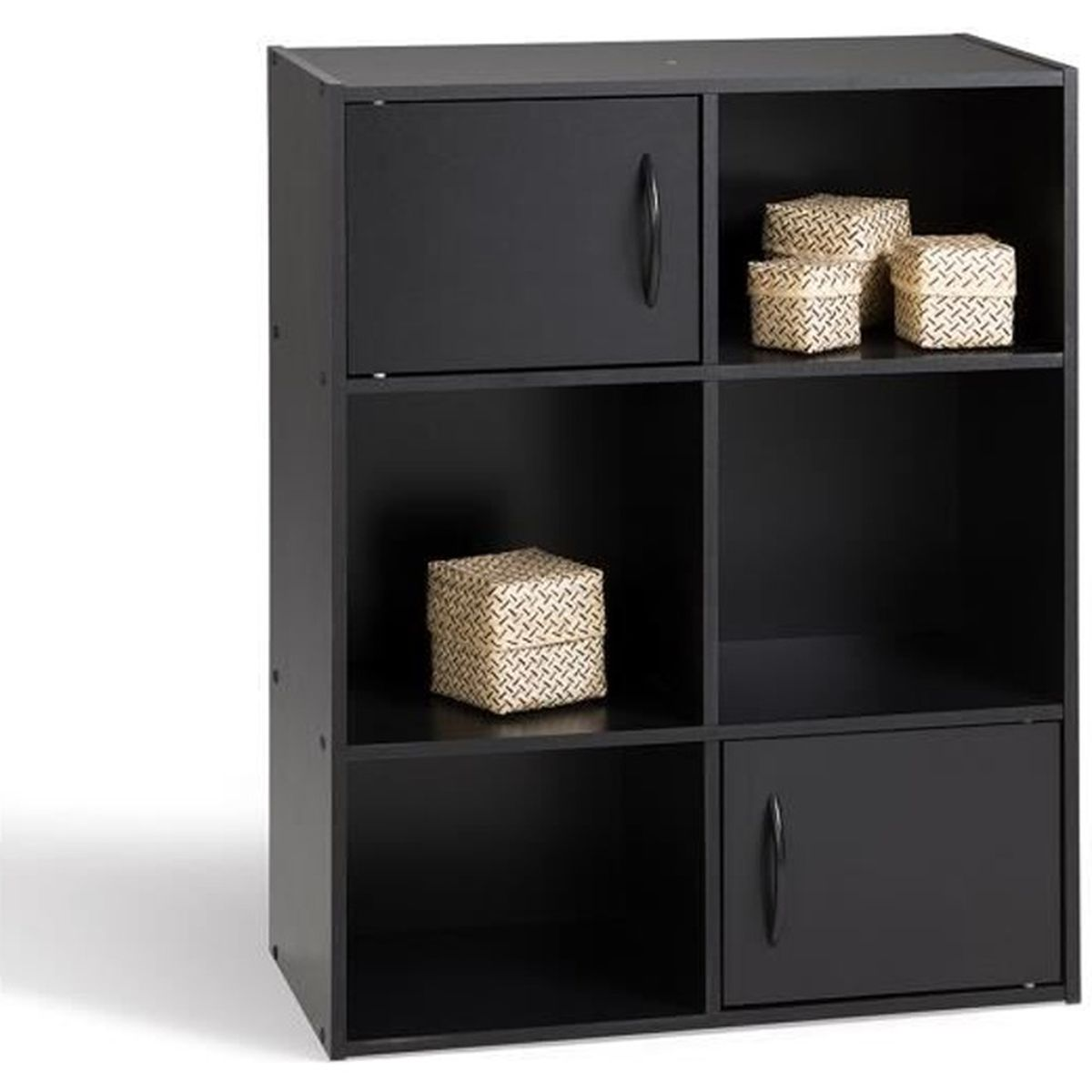 meuble de rangement noir en panneaux de particules 61. Black Bedroom Furniture Sets. Home Design Ideas