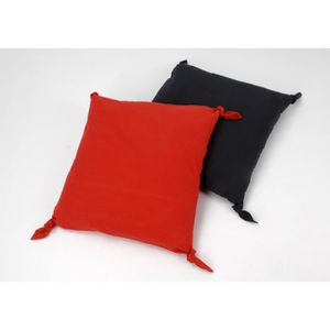 coussin rouge et gris achat vente coussin rouge et. Black Bedroom Furniture Sets. Home Design Ideas