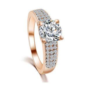BAGUE - ANNEAU Haute qualite Mode en pierre zircon anneaux pour f