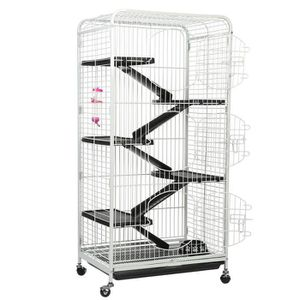 CAGE Cage de lapin 5 couches Cochon d'Inde Cage Blanc -