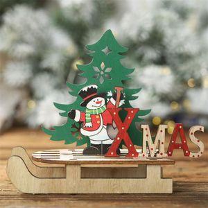 2 fait main style traditionnel de Noël porte-carte coeurs en bois Chevilles et string