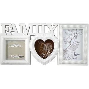 CADRE PHOTO PrimoLiving Family Galerie pour 3Photos avec cœur
