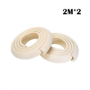 2 M/ètres Beige ZWOOS Coussins de Garde de Bord pour 8 Protecteurs Dangles /& Rouleau de Mousse Antichoc de 2