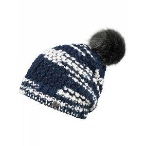 BONNET - CAGOULE BARTS - Bonnet en maille bleu pompon imitation fou
