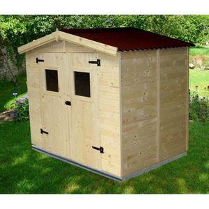 ABRI JARDIN - CHALET Abri de jardin 5,04m² en bois - Toiture en plaques
