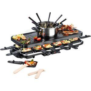 APPAREIL À RACLETTE GOURMETmaxx Raclette et fondue Set XXL pour 12 per