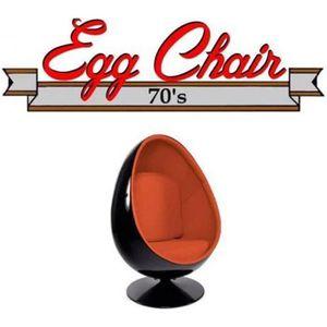FAUTEUIL Fauteuil pivotant Oeuf, Egg chair coque noir / int