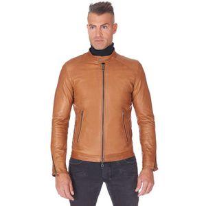 BLOUSON - VESTE Blouson cuir cognac veste moto cuir naturel mao co