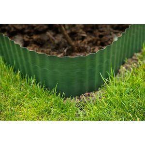 BORDURE Bordure à gazon polyéthylènes verts H15 cm * 9 mèt