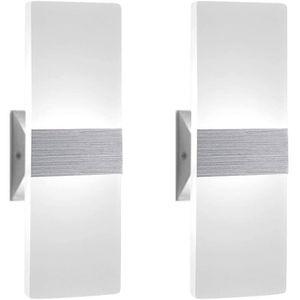 APPLIQUE  Applique Murale LED - Aluminium - 6W - Blanc froid