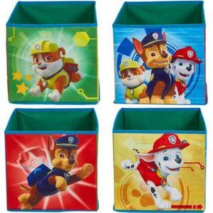 PETIT MEUBLE RANGEMENT  Lot de 4 cubes de rangement pour jouets enfants mo