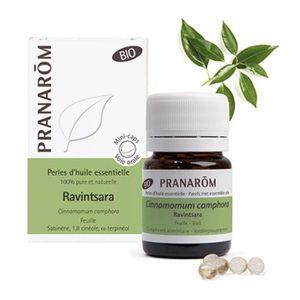 HUILE ESSENTIELLE Ravintsara Bio - Perles d'huiles essentielles - Pr