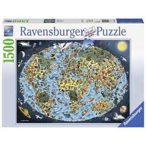 PUZZLE RAVENSBURGER Puzzle 1500 p - Mappemonde colorée