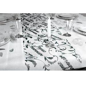 CHEMIN DE TABLE JETABLE Chemin de table anniversaire noir (x1) REF/CHT00N