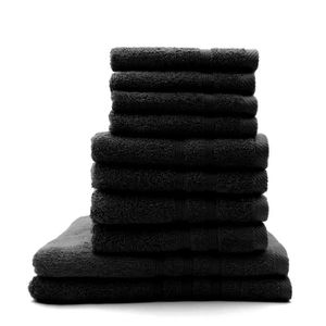 SERVIETTES DE BAIN TODAY Lot de 4 Serviettes de bain 30 x 50 cm + 4 S