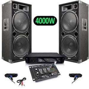 PACK SONO Pack Sono Enceintes 4000W MAX215 + Vexus STM-3020B