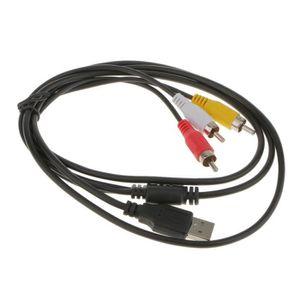 CÂBLE AUDIO VIDÉO VSHOP® USB à 3RCA Audio Vidéo AV Adaptateur Câble