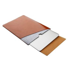 SACOCHE INFORMATIQUE Sacoche Mac Double sac intérieur en cuir microfibr