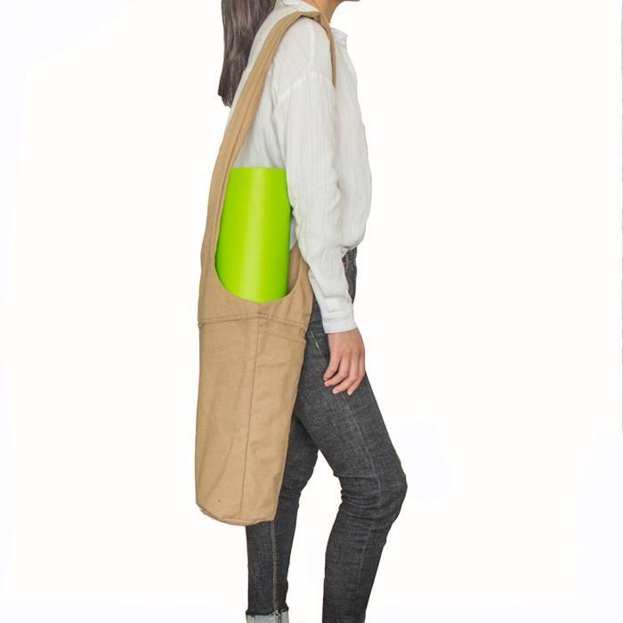Tapis de yoga fourre-tout écharpe porte avec grande poche latérale Convient la plupart des tapis Taille @LM5975