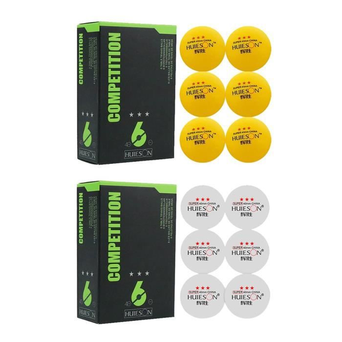 【ping pong】3 balles de ping-pong d'étoiles, boule de tennis de table de 40 mm de diamètre pour l'entraînement compétitif_YU1950