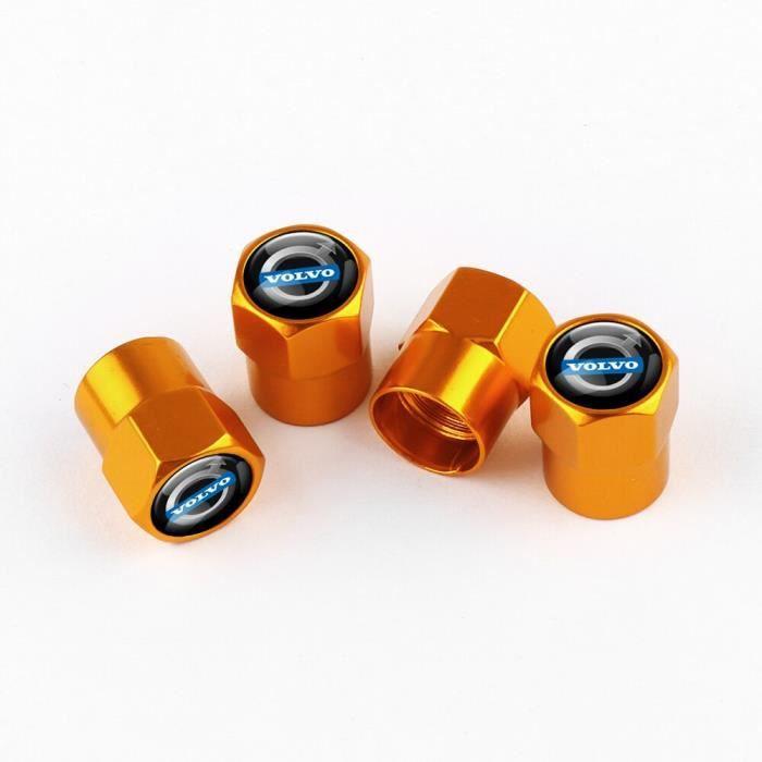 Bouchons de Valve de roue en métal, 4 pièces, accessoires de décoration, pour Volvo RDESIGN AWD S40 S60 XC40 XC60 XC90 [9682275]