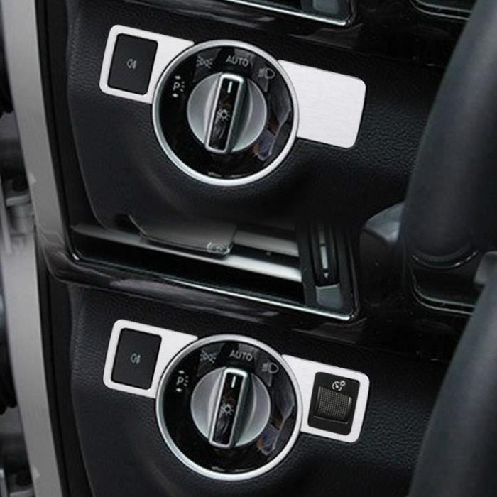 Couvercle de bouton de phare chromé, pour Mercedes Benz A-B-C-GLK GL-ML, classe W176, W246, W204, bouton de commu Type A -WGHY1242