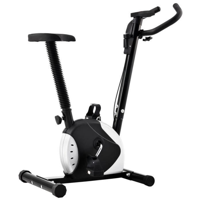 Vélo d'appartement - Vélo d'Exercice d'Intérieur Vélo Cardio - avec résistance à courroie - Noir Economique #156459