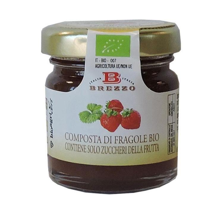 Mignon Compote Confiture de fraises BIO Brezzo - 40 gr Italienne