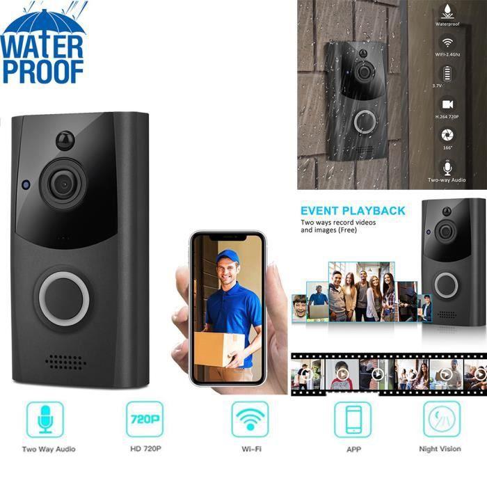 Sans fil WiFi DoorBell Smart Video Phone Interphone visuel Sonnette Caméra sécurisée L697