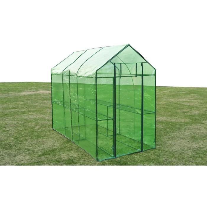 Magnifique haute qualité - Serre de jardin Acier XL 120 x 240 x 190 cm🎆89782