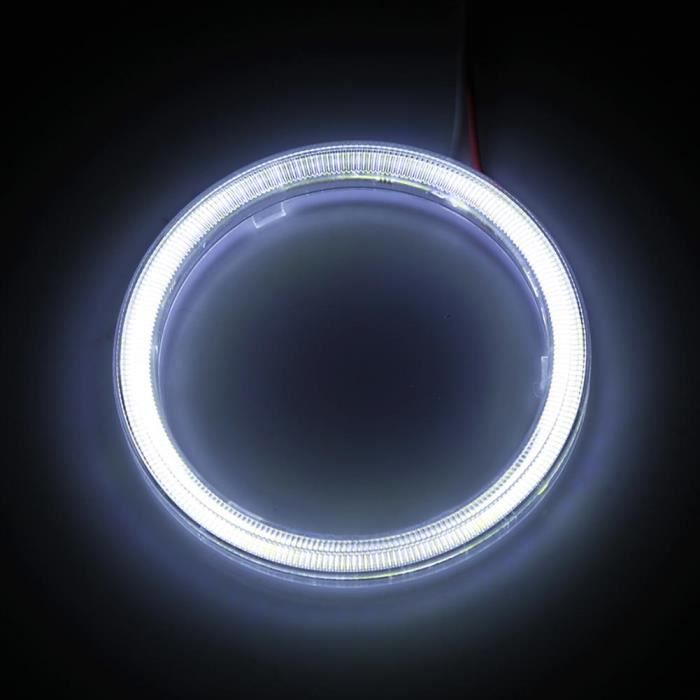 ARAMOX phare Angel Eyes 1 paire Auto Halo Anneaux Angel Eye COB Chips Phare DRL LED Pour Moto Voiture 70mm