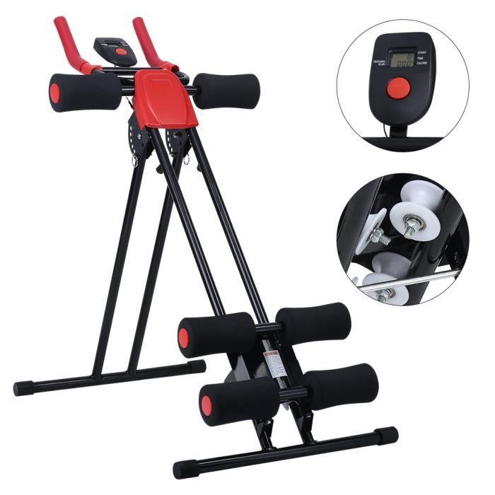 Finether Appareil Abdominale 5 Minute Shaper AB Cruncher Machine Abdominaux Avec 6 Niveaux Inclinaison Fitness Sport
