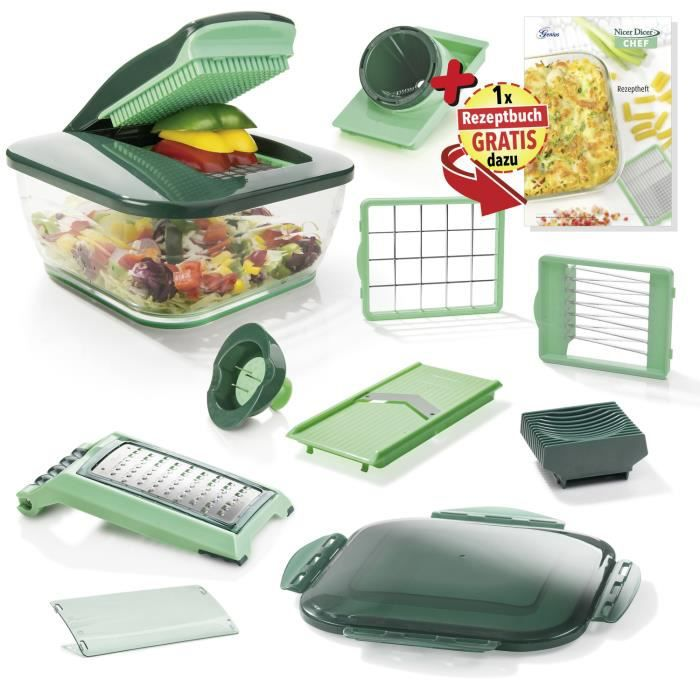 Coupe-aliments - Genius Nicer Dicer Chef - 15 pièces