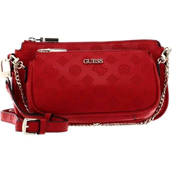 GUESS Dayane Double Pouch Crossbody Red [115297]