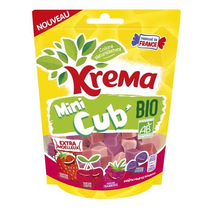 KREMA Bonbons Mini Cub Bio Fruits Rouges - 130 g
