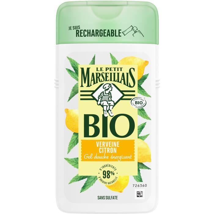LE PETIT MARSEILLAIS Gel douche Bio - Verveine citron - Flacon de 250 ml