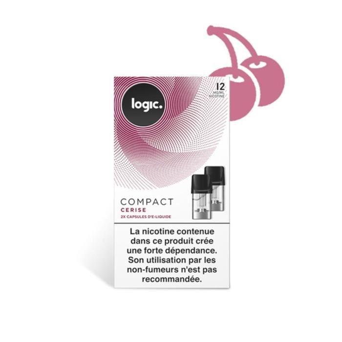 Logic E-Liquide en Capsule Logic Compact – Cerise 12 mg/ml