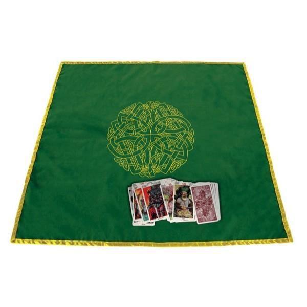 Tapis vert 80 x 80 cm Labyrinthe celtique