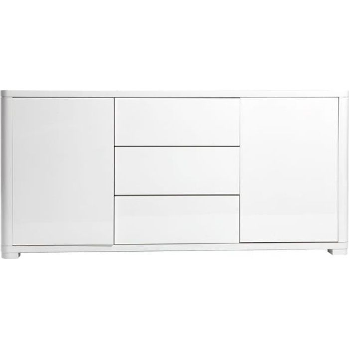 Miliboo - Buffet design blanc laqué brillant PAX