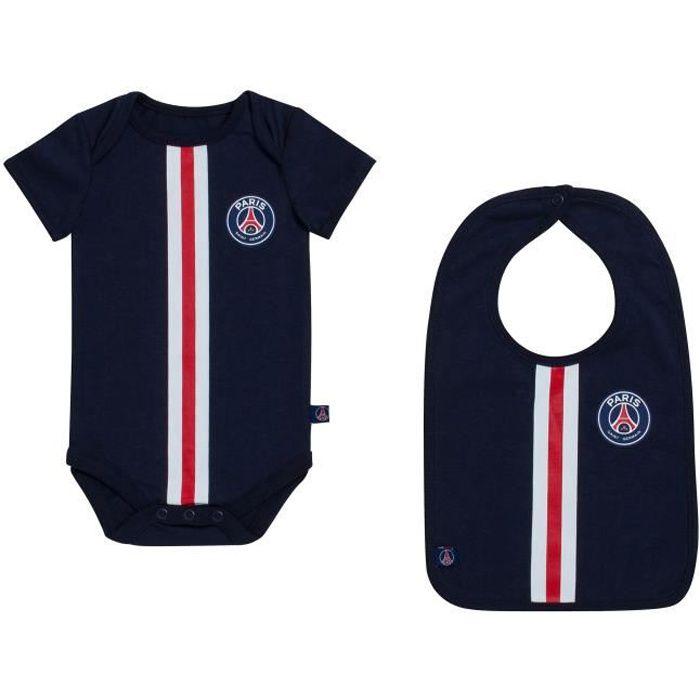 Body + bavoir bébé PSG - Maillot club - Collection officielle PARIS SAINT GERMAIN - Bébé