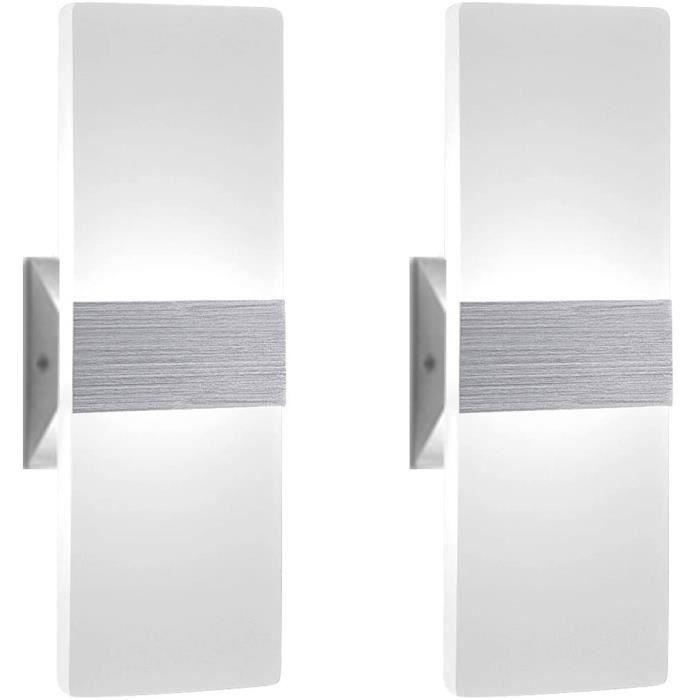 ChangM 2PCS Applique Murale LED 12W Lampe Moderne Design Up and Down Luminaires Muraux Intérieur de mur Lampe